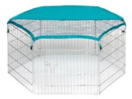 Wire Pet Playpen with waterproof polyester cloth 6 panels 06-0112 Dog Playpen: Pet Playpen Products, Dog Goods Wire Pet Playpen with waterproof polyester cloth 6 panels