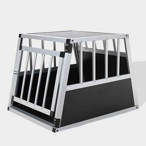 Single Door Aluminum Dog cage 75a 54cm 06-0765 Aluminum Dog cage: Pet Products, Dog Goods Single Door Aluminum Dog cage 75a 54cm