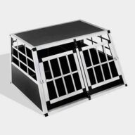 Aluminum Dog cage Small Double Door Dog cage 65a 89cm 06-0770 Aluminum Dog cage: Pet Products, Dog Goods Small Double Door Dog cage 65a 89cm