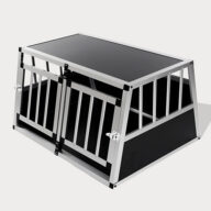Small Double Door Dog Cage With Separate Board 65a 89cm 06-0771 Aluminum Dog cage: Pet Products, Dog Goods Dog Cage