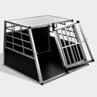 Large Double Door Dog cage With Separate board 65a 06-0774 Aluminum Dog cage: Pet Products, Dog Goods Large Double Door Dog cage With Separate board 65a