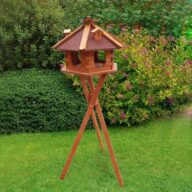 Wood bird feeder wood bird house small hexagonal solar and light 06-0976 Bird feeder, Bird Products Factory, Manufacturers & Supplier cat beds